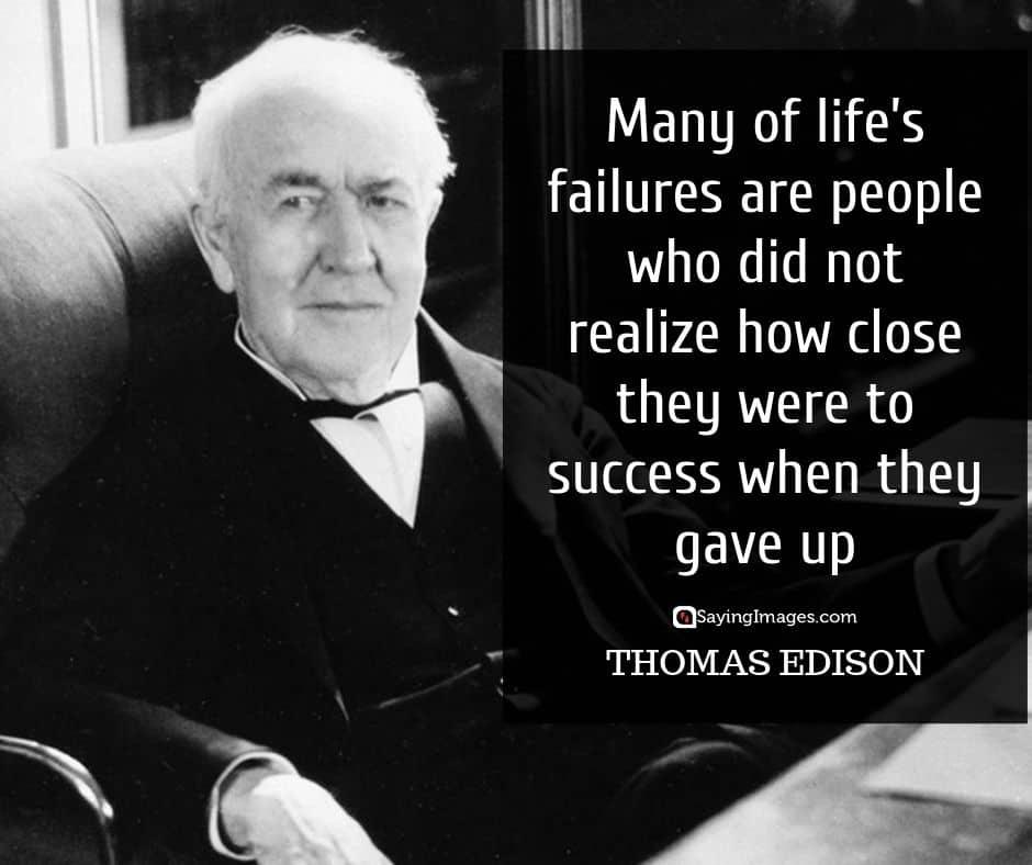 thomas edison hope quotes