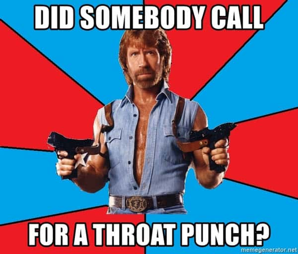 throat punch did somebody call meme