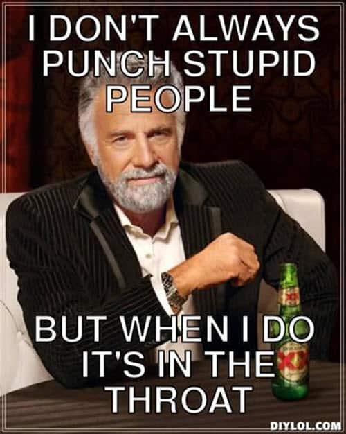 throat punch i dont always meme