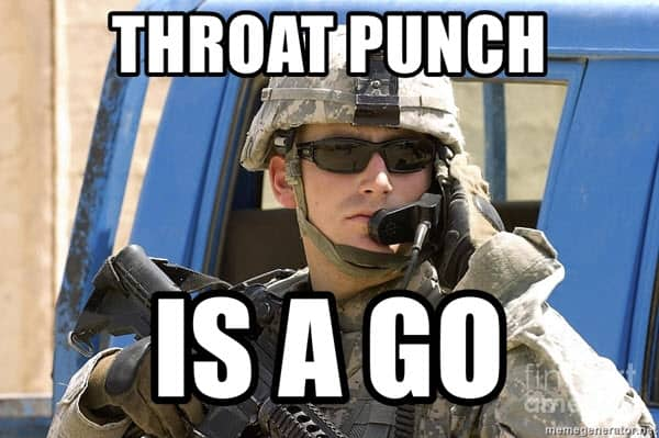 throat punch is a go meme