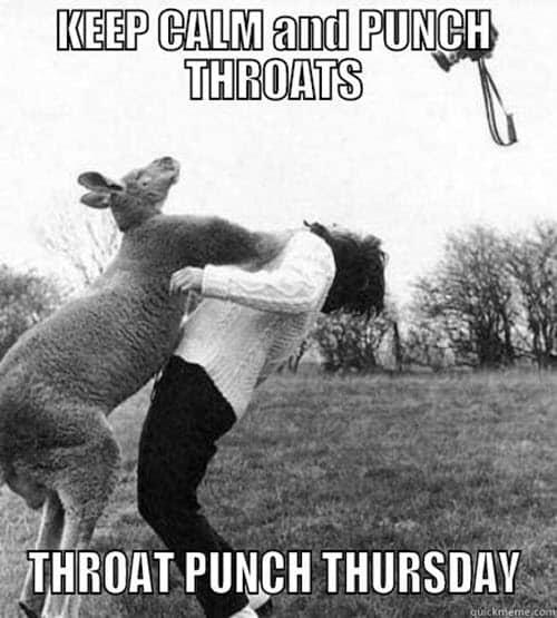 throat punch keep calm meme