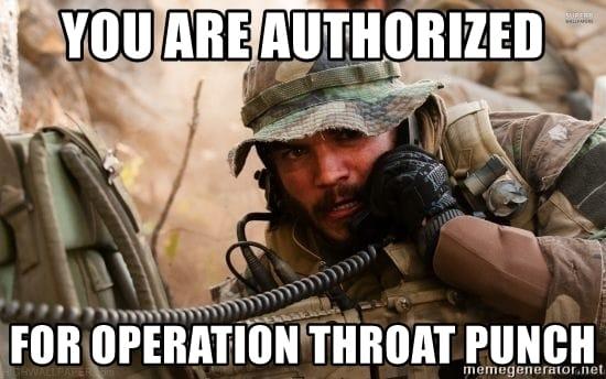 throat punch operation meme