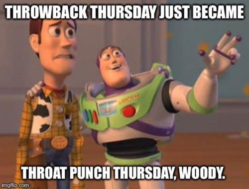 throat punch thursday meme