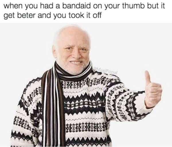 thumbs up bandaid meme