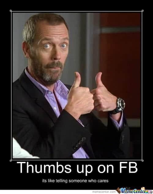thumbs up fb meme