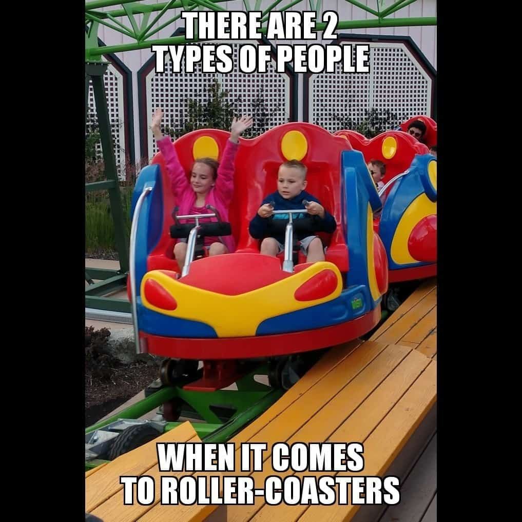 two types of people roller coaster meme