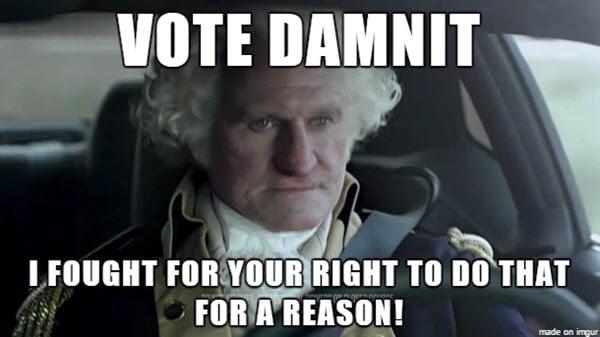 voting damnit meme