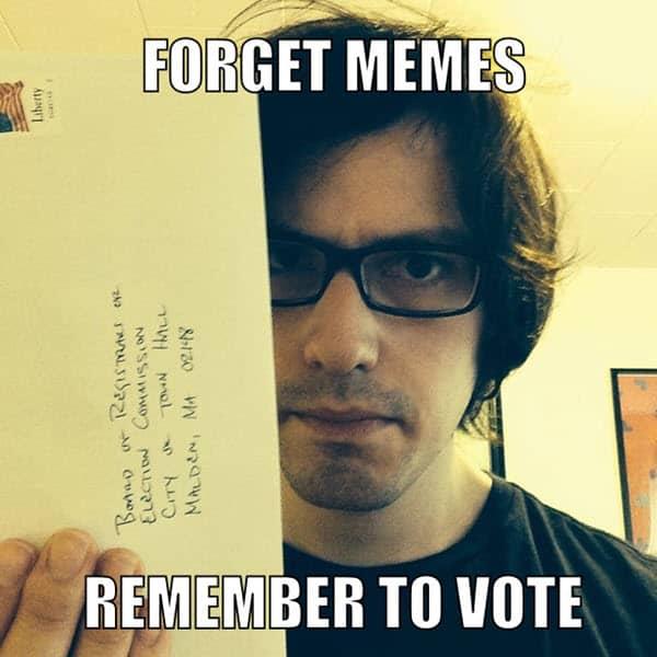 voting forget memes meme