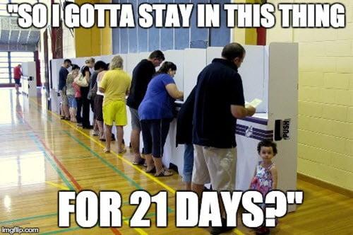 voting overheard meme