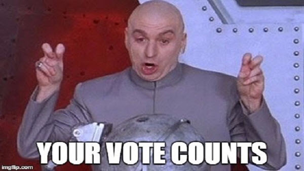 voting your vote counts meme