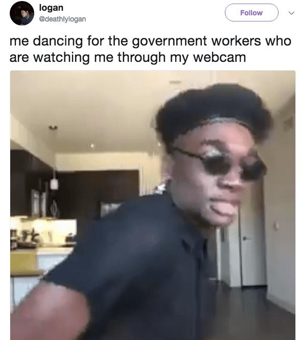 webcam fbi agent meme