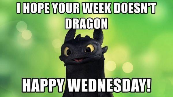 wednesday dragon meme