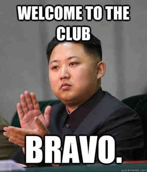 welcome club meme