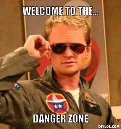 welcome danger zone meme