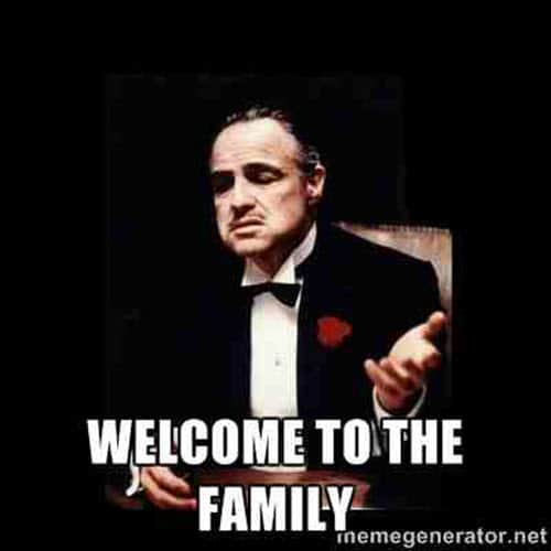 welcome family meme