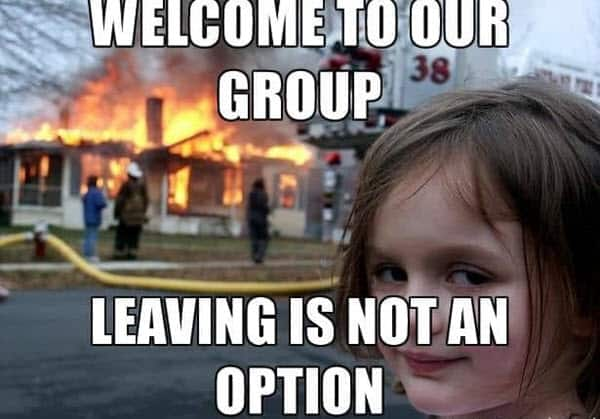 welcome group meme