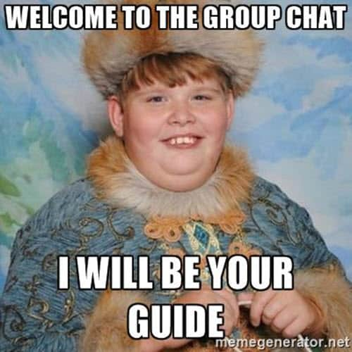 welcome to the group chat meme