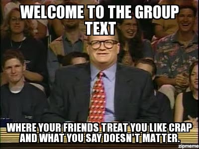 welcome to the group text meme