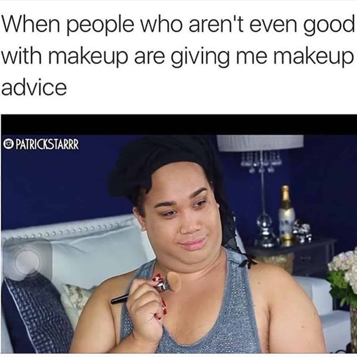 Caked On Makeup Meme