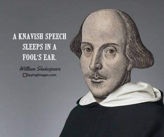 william shakespeare fool quotes