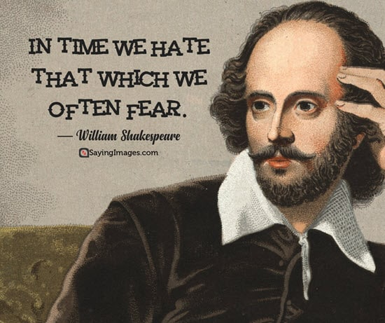 william shakespeare hate quotes