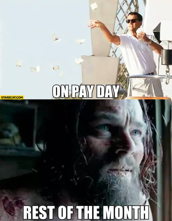 wolf of wall street pay day meme