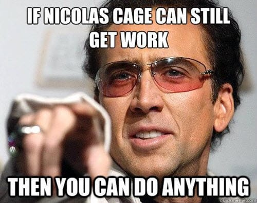 you can do it nicholas cage meme