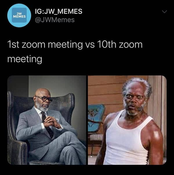 zoom meetings 1st and 10th memes