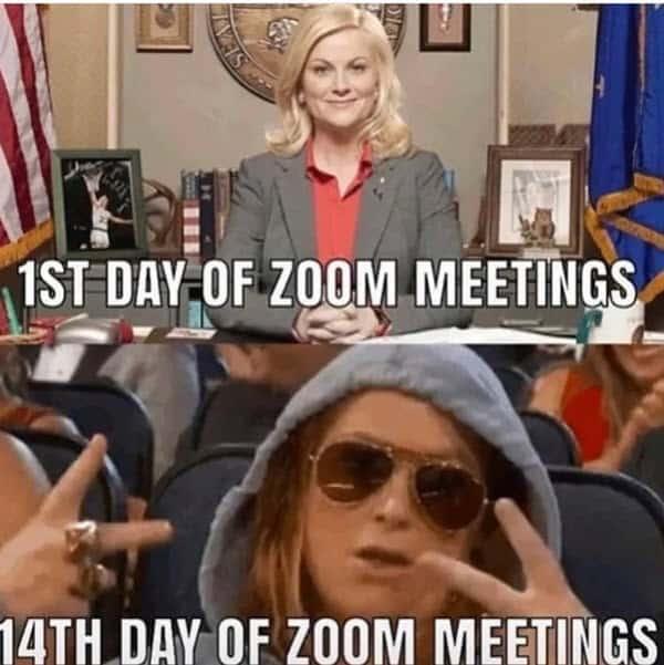 zoom meetings 1st day memes