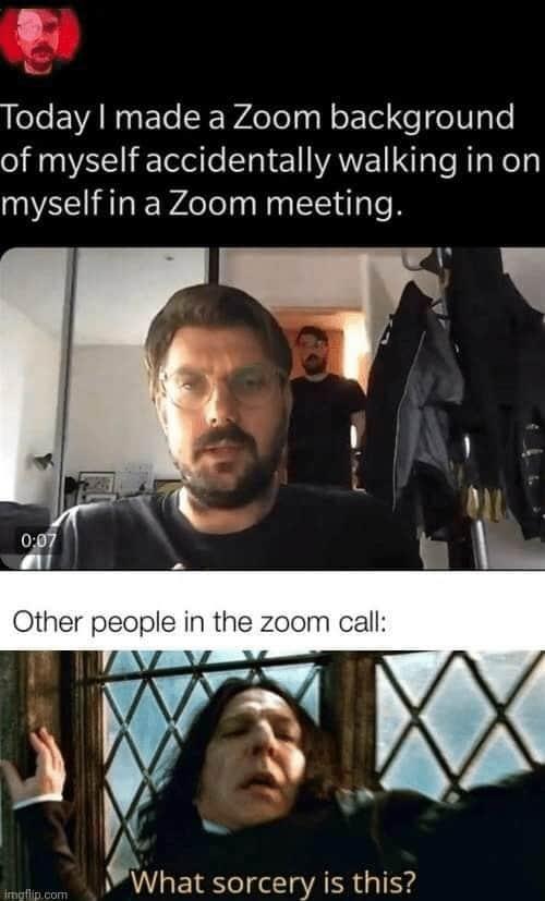 zoom meetings background memes