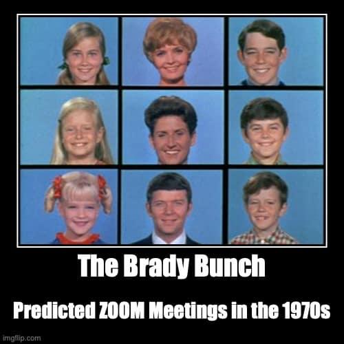 zoom meetings brady bunch memes