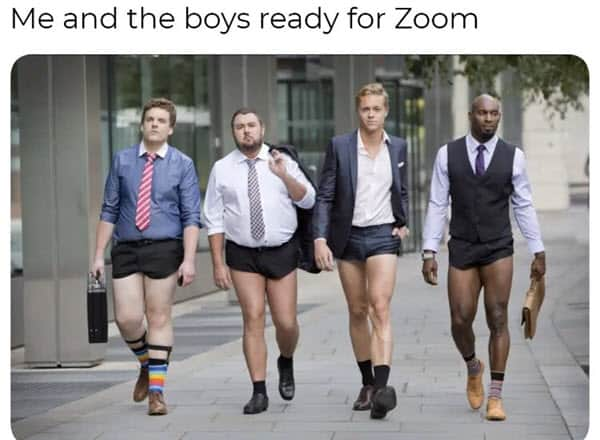 zoom meetings me and the boys memes