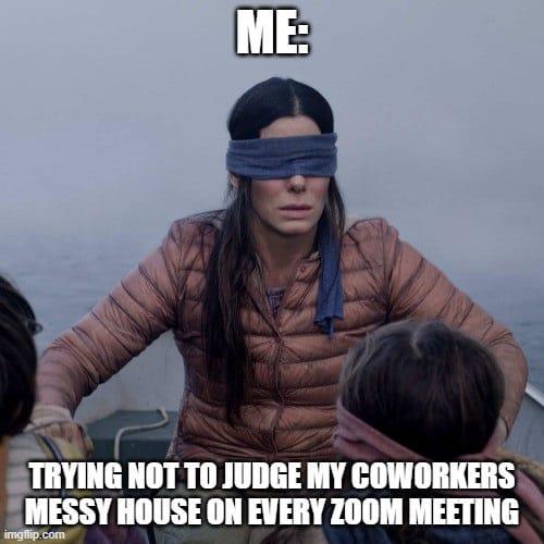 zoom meetings messy house memes